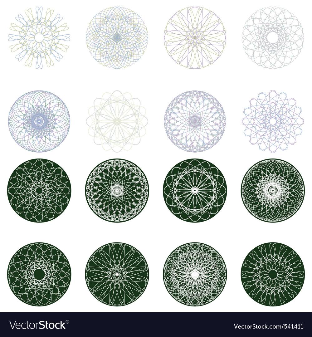Guilloche rosette pattern vector image