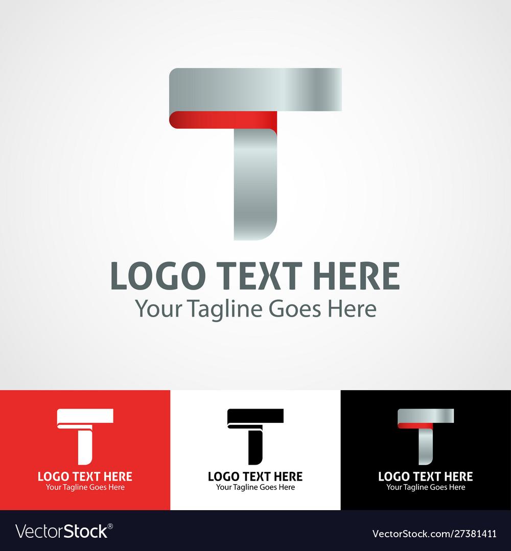Hi-tech trendy initial icon logo t