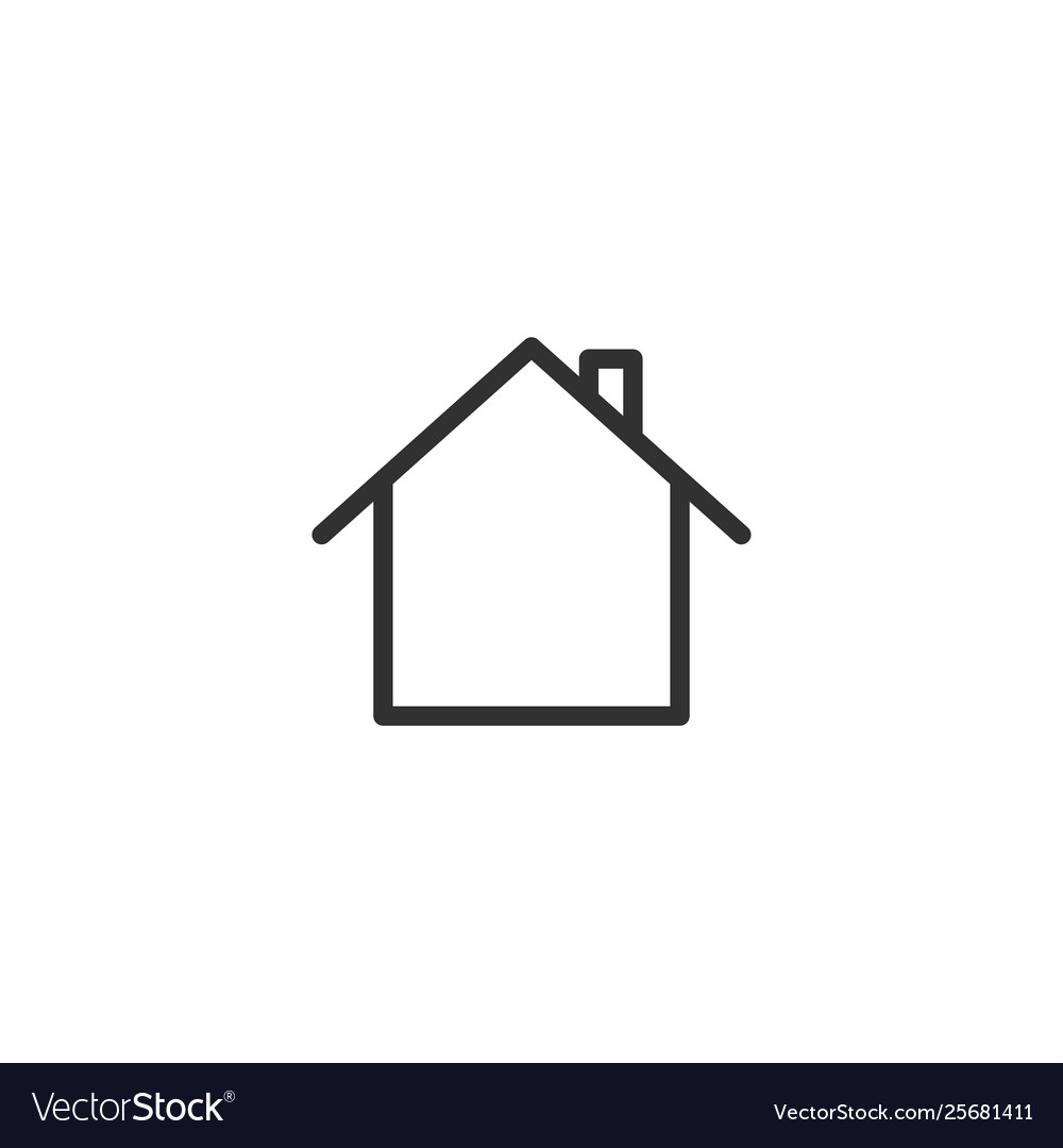 Home icon in trendy flat style isolated on