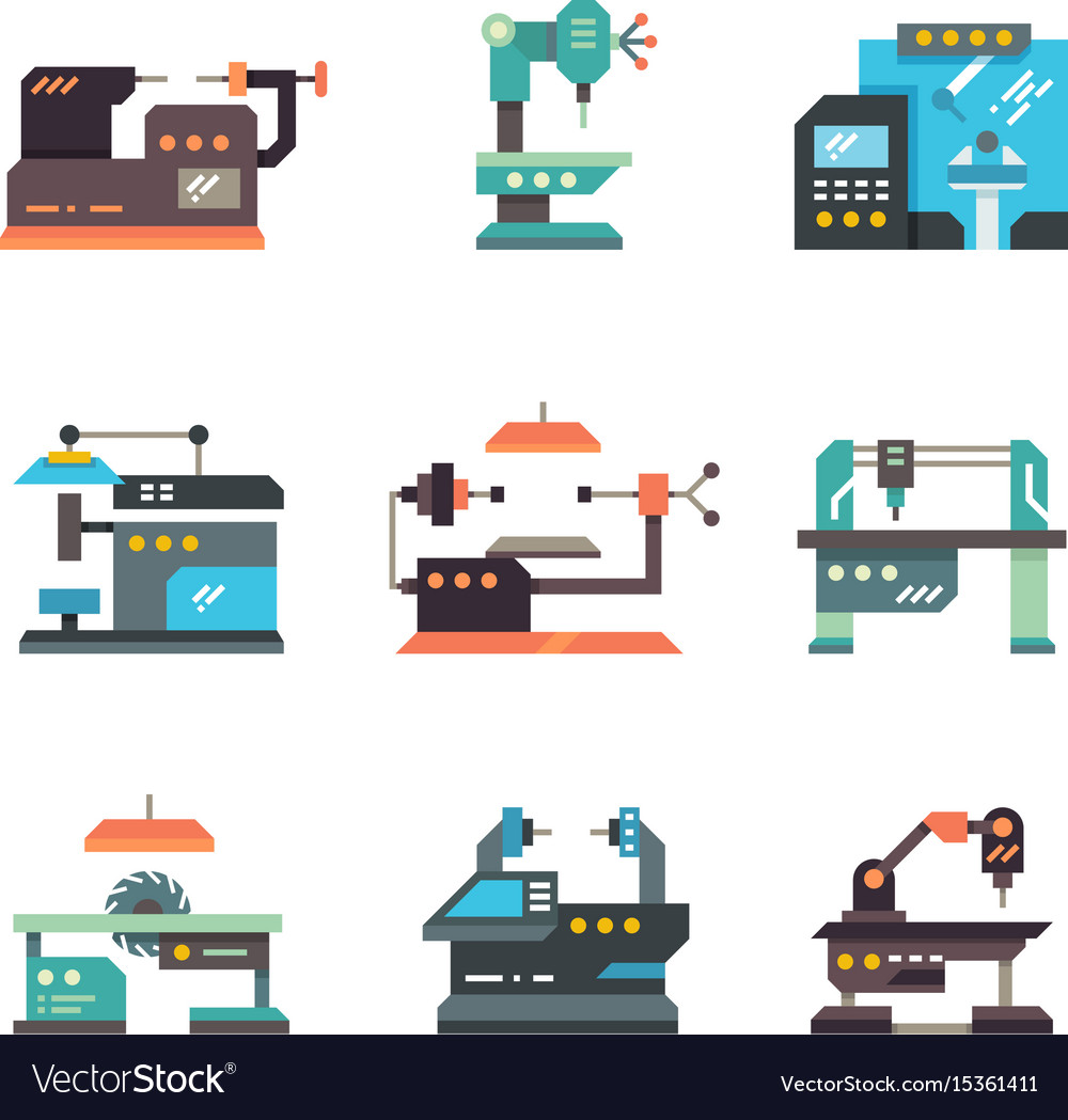 Industrial cnc machine tools and automated