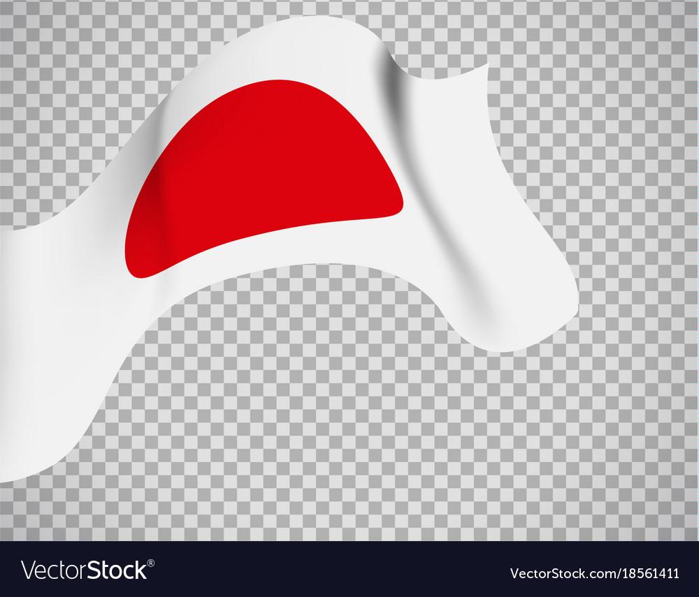 Japan flag on transparent background