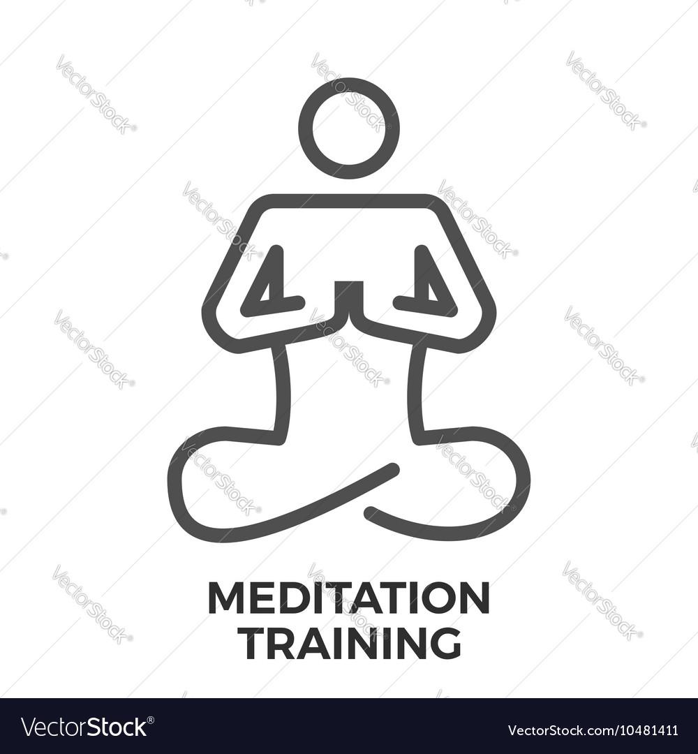 Mdeitation training thin line icon