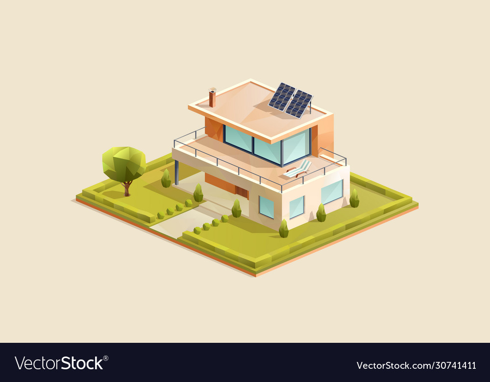 Modern family house with small garden