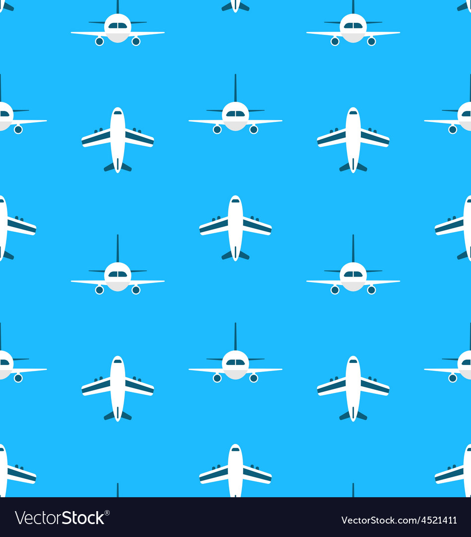 Seamless Pattern with Airplanes