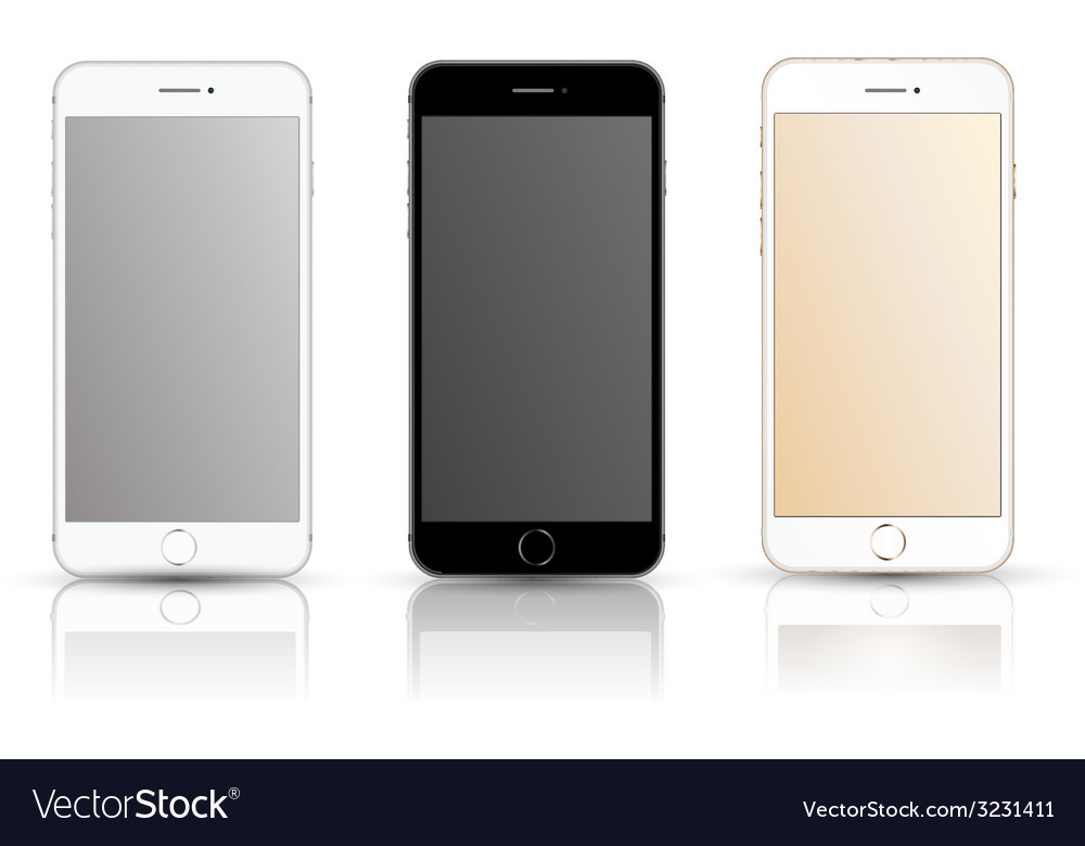Smartphone realistic mockup set