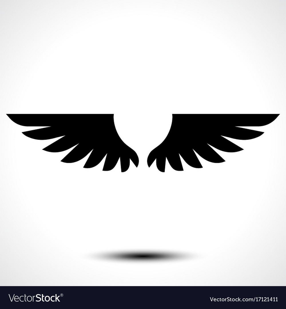 Wings icon isolated on white background