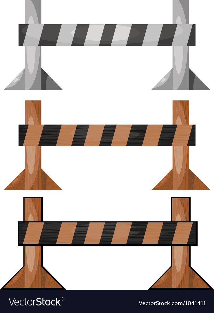 Wooden barriers set