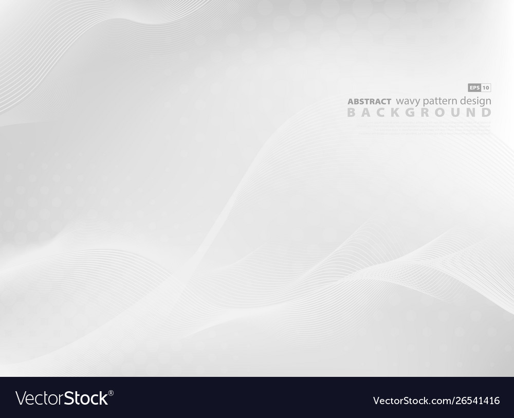 Abstract gray wavy pattern design background