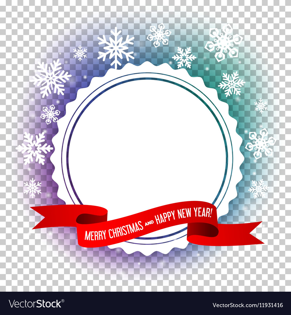 Empty frame design for christmas and new year card