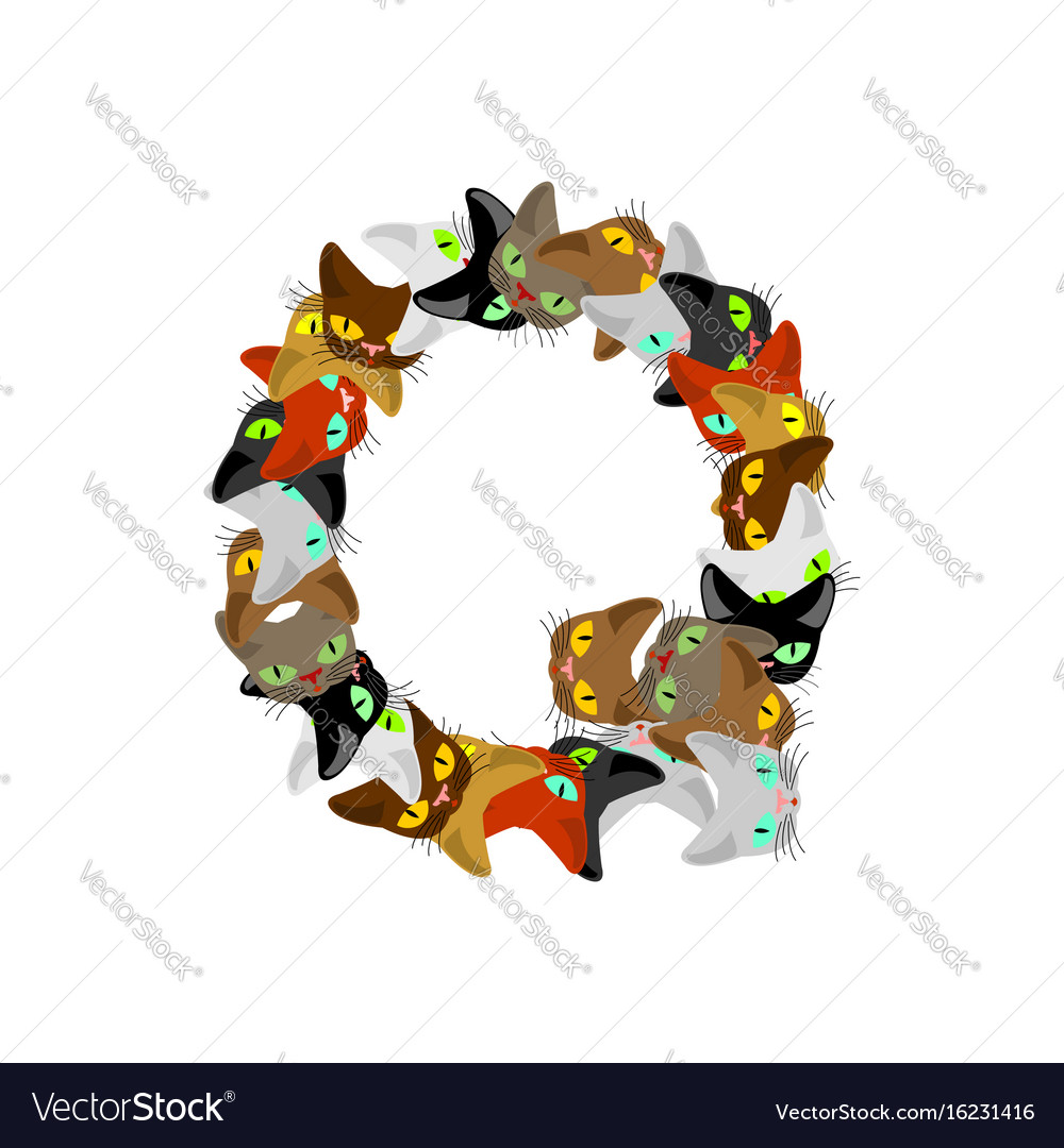 Letter Q Cat Font Pet Alphabet Symbol Home Animal Vector Image