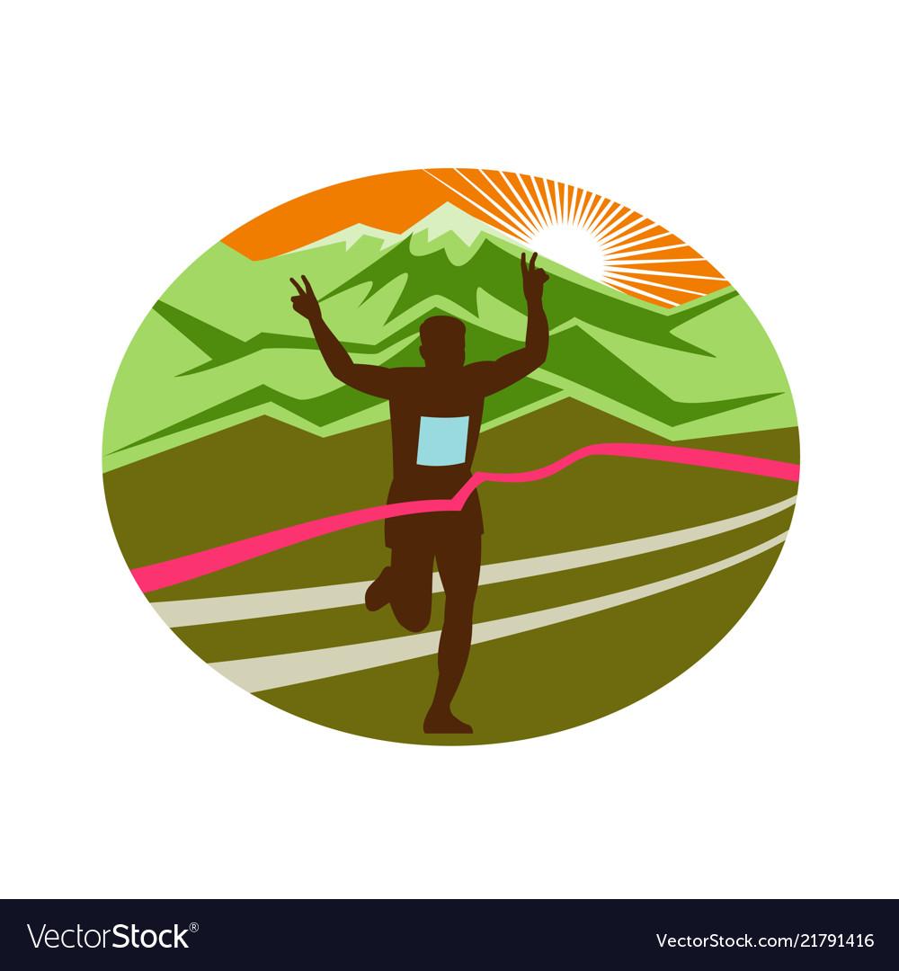 Marathon finisher oval