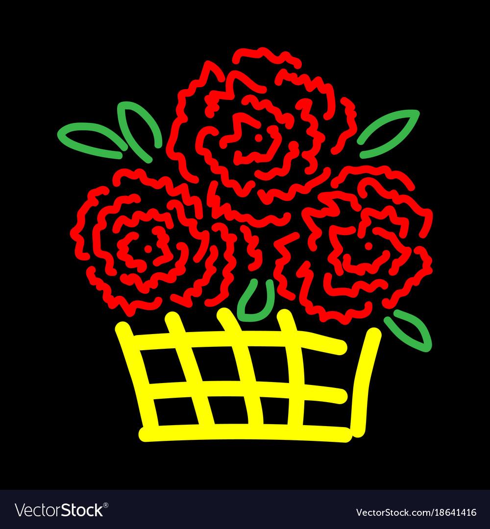 Roses in basket sign 3211