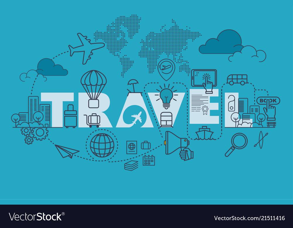 Travel website banner design concept