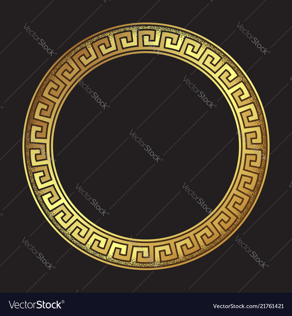 Antique greek style gold meander ornament
