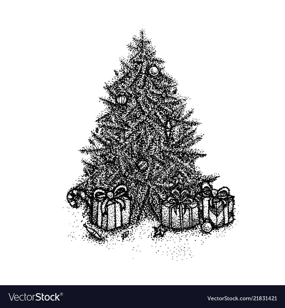 Dotwork christmas tree
