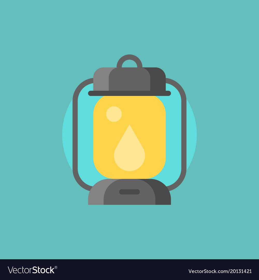 Hurricane lamp icon flat design