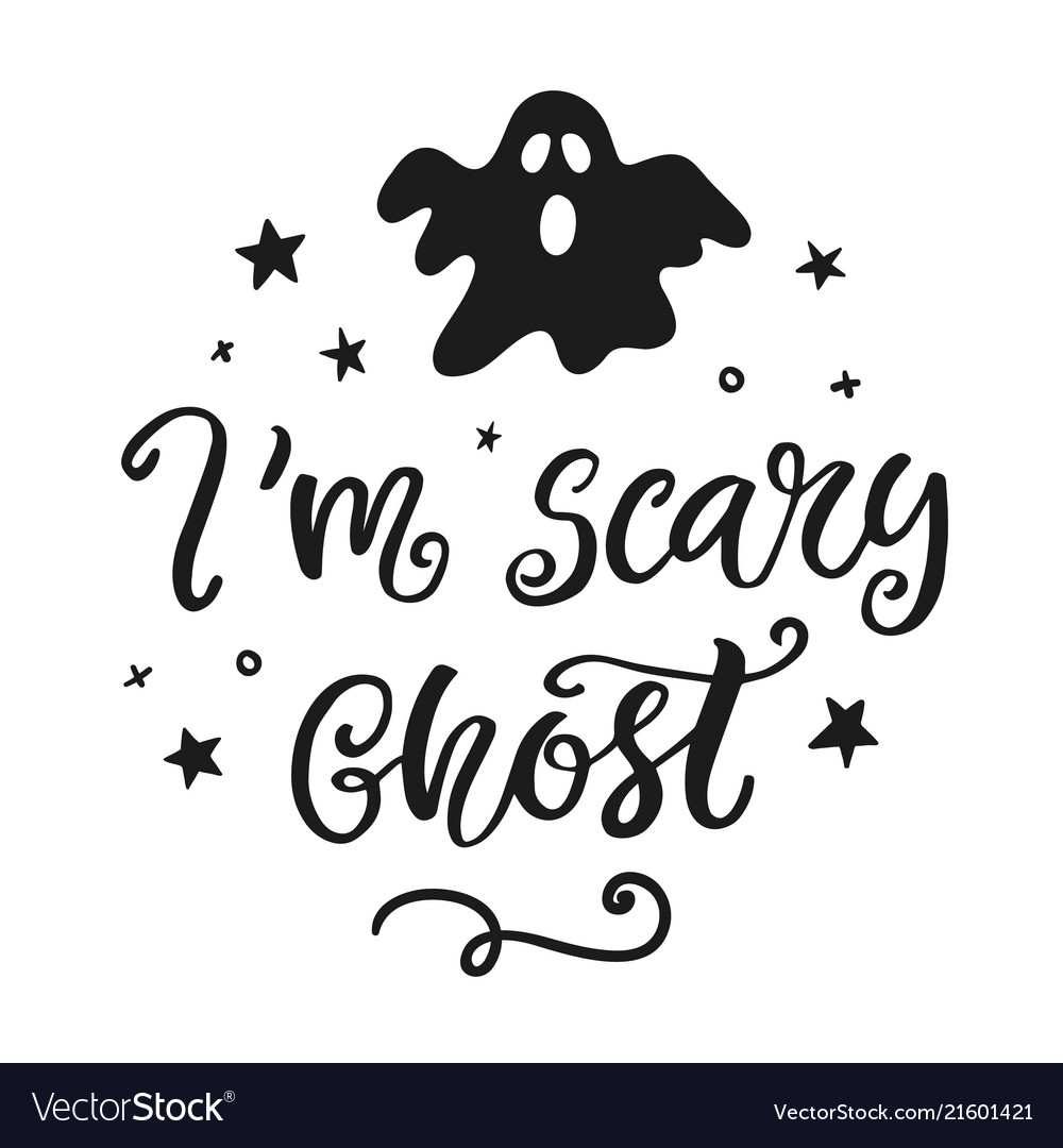 Im scary ghost halloween party poster