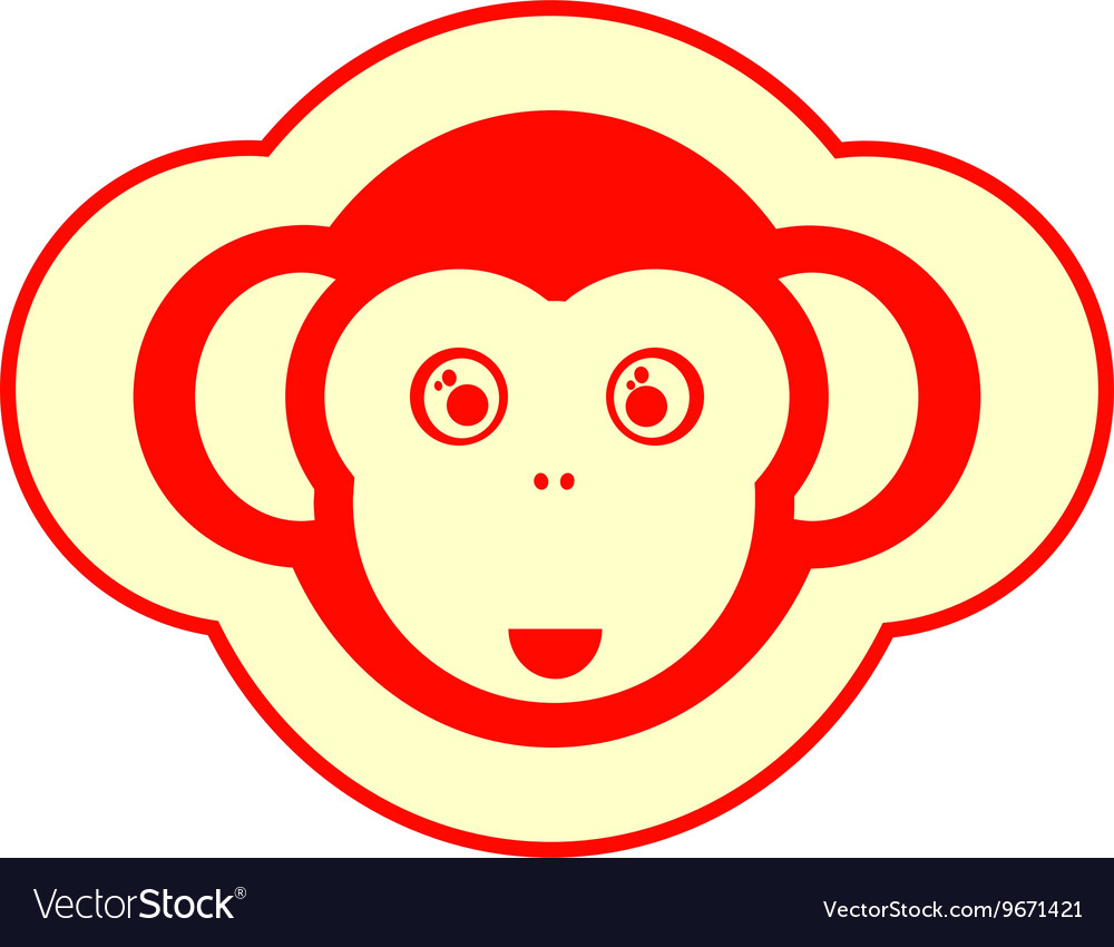 Monkey icon 2016 new year sign