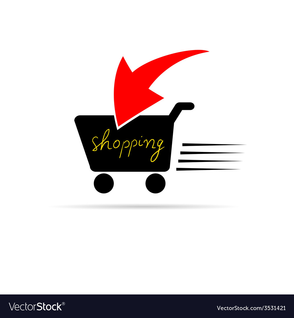 Shopping icon color vector image