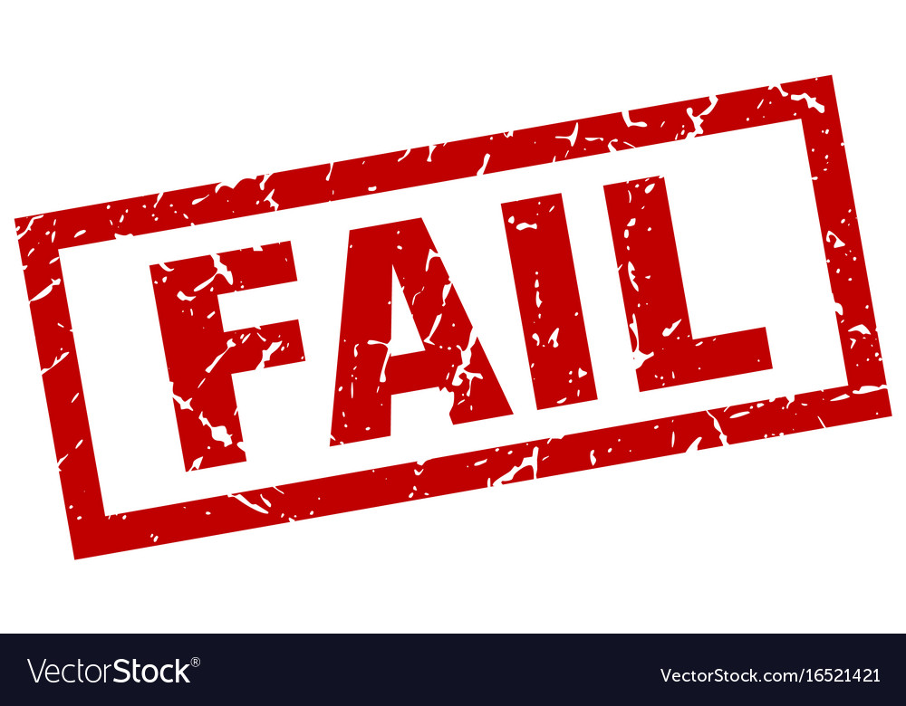 square grunge red fail stamp royalty free vector image