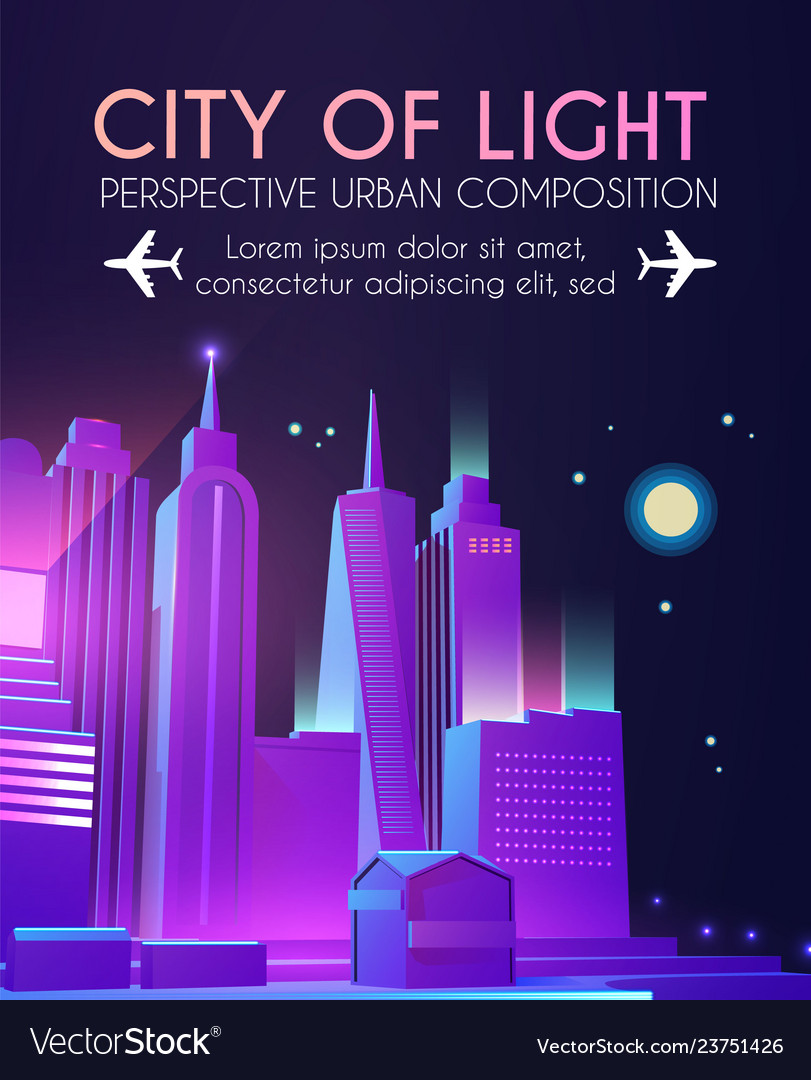 3d city concept urban background with