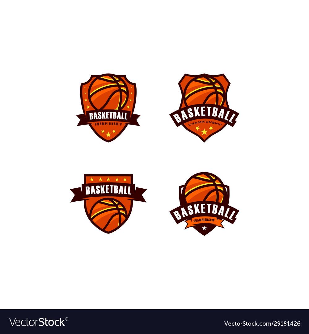 Basketball championship logo emblem designs