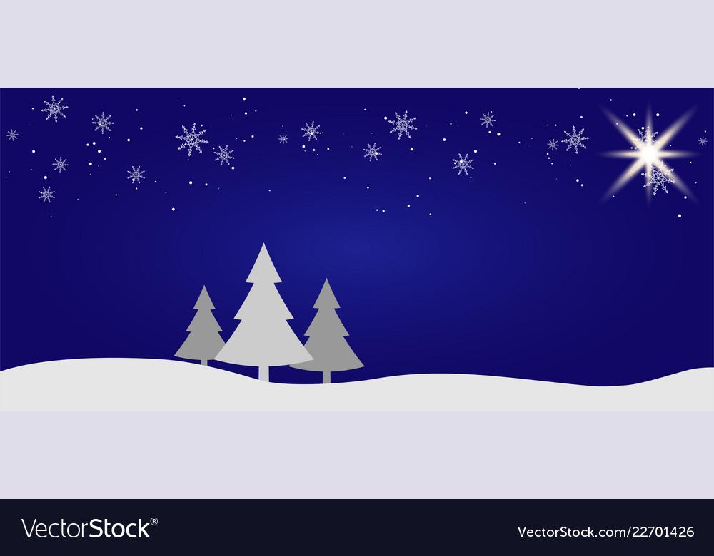 Beautiful christmas winter flat landscape