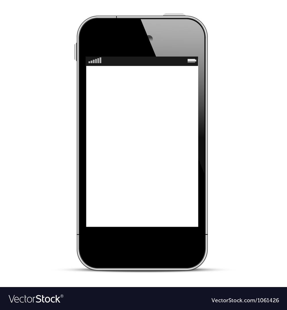Black smartphone Royalty Free Vector Image - VectorStock