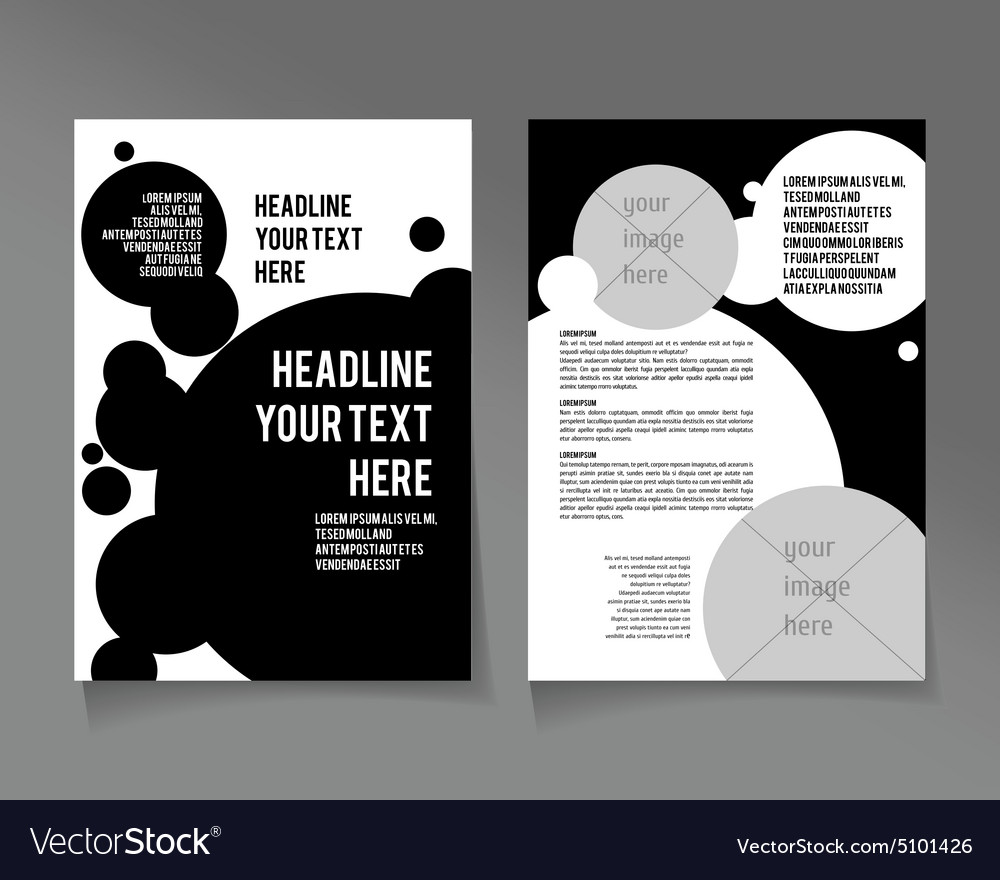 Flyer Template Business Brochure Royalty Free Vector Image