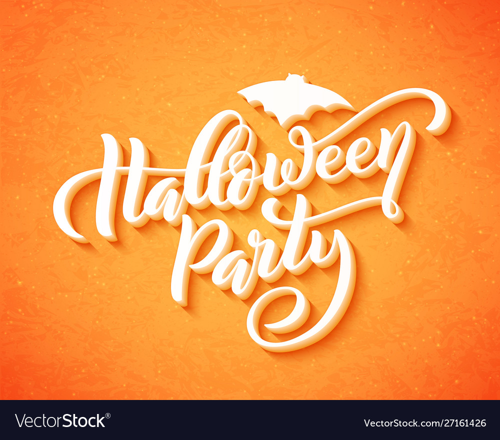 Happy halloween party hand drawn creative