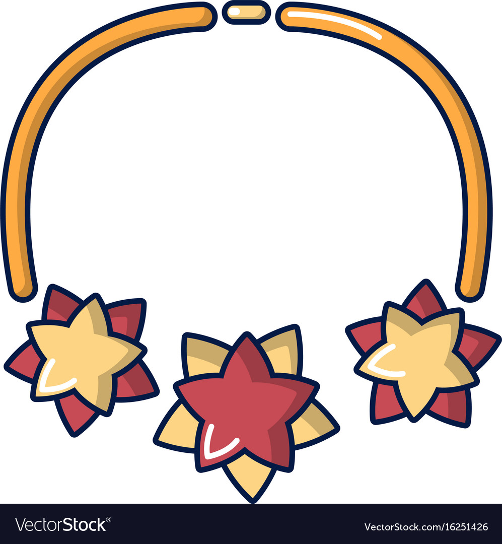 Necklace icon cartoon style