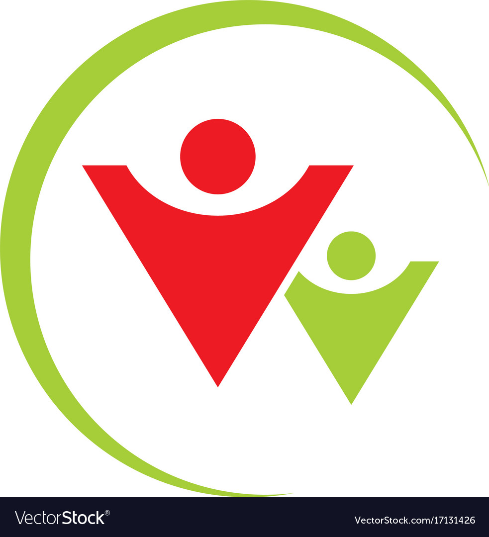 People leadership abstract logo