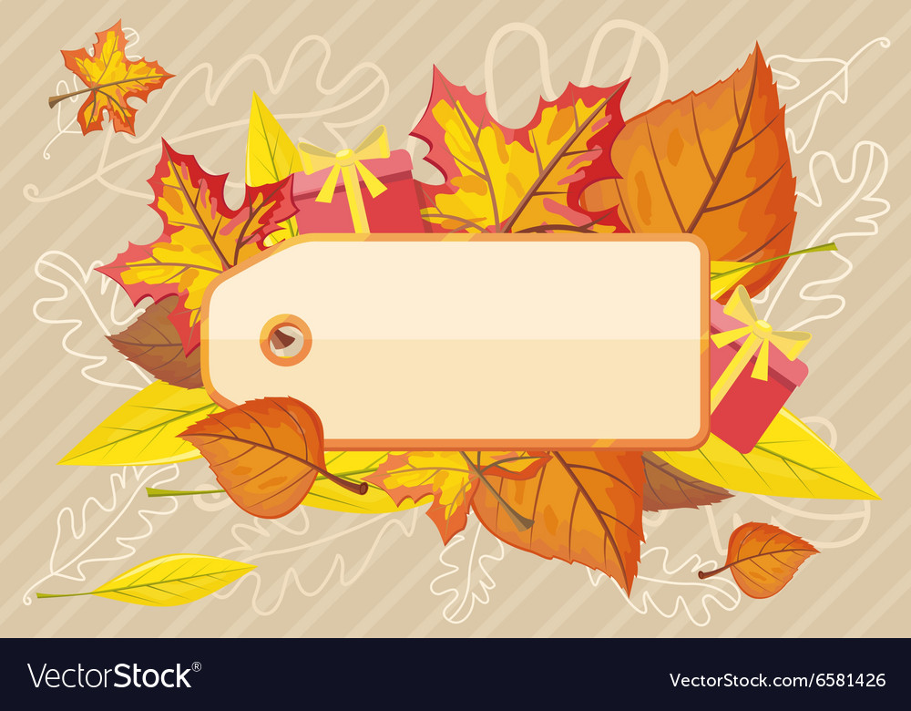 tag label template for autumn sale royalty free vector image