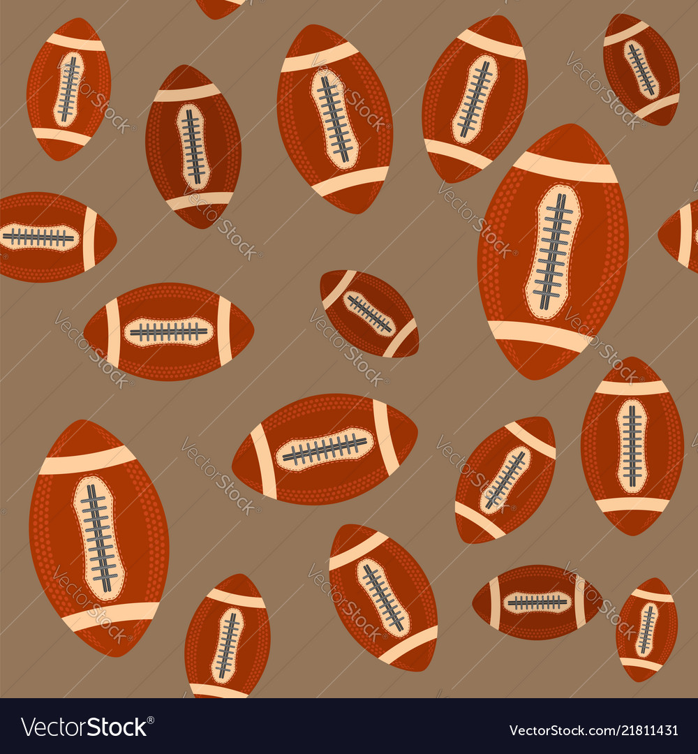 00790364e5849 American football ball seamless pattern isolated Vector Image
