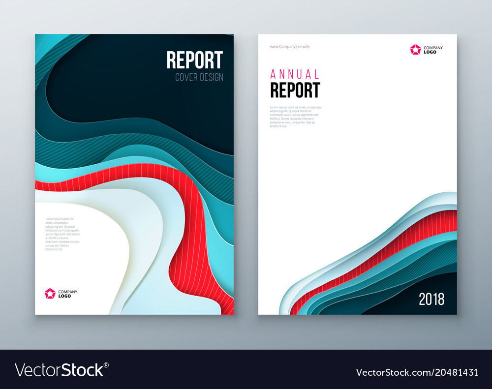 annual report cover design corporate business vector image