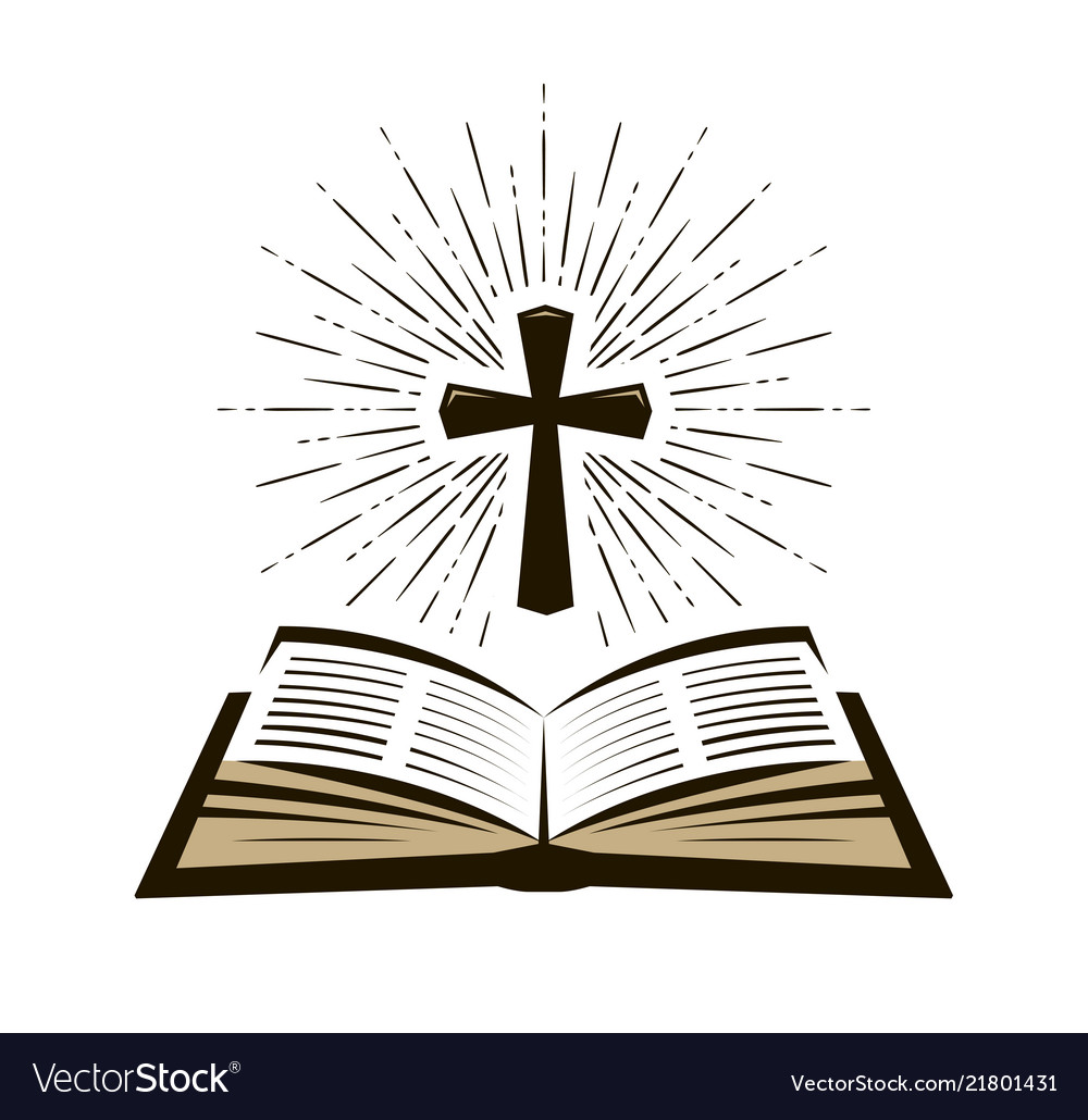 Bible scripture logo or label faith creed