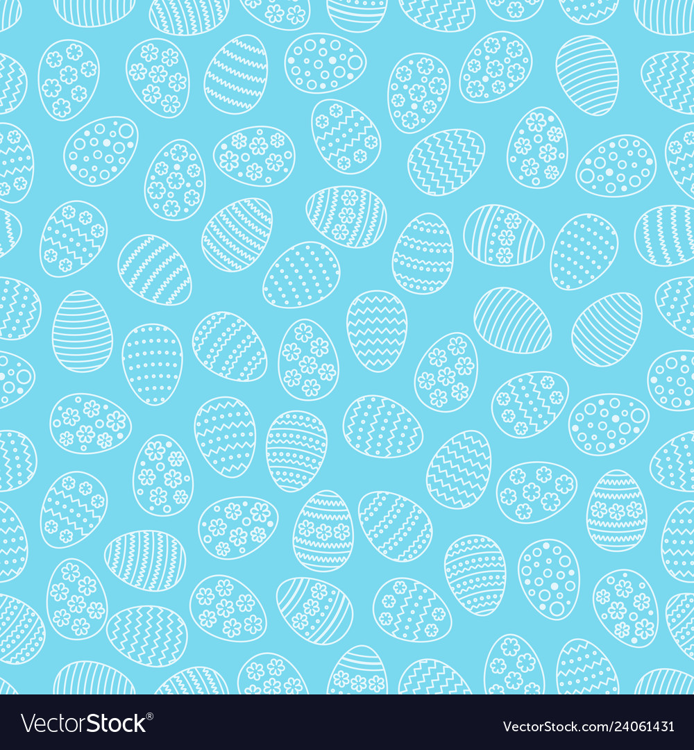 Easter seamless background with eggs gift card