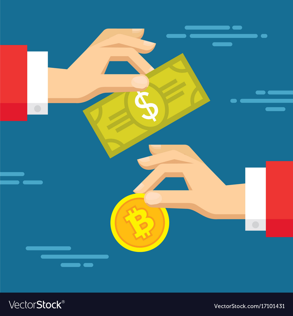 Exchange of digital currency bitcoin and dollar
