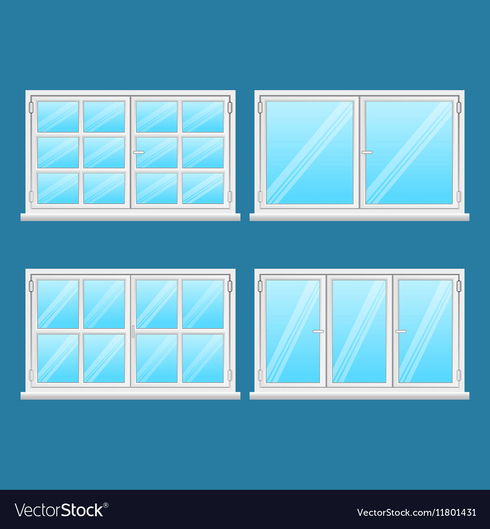 High Quality Aluminium Windows Stainless Steel vector image