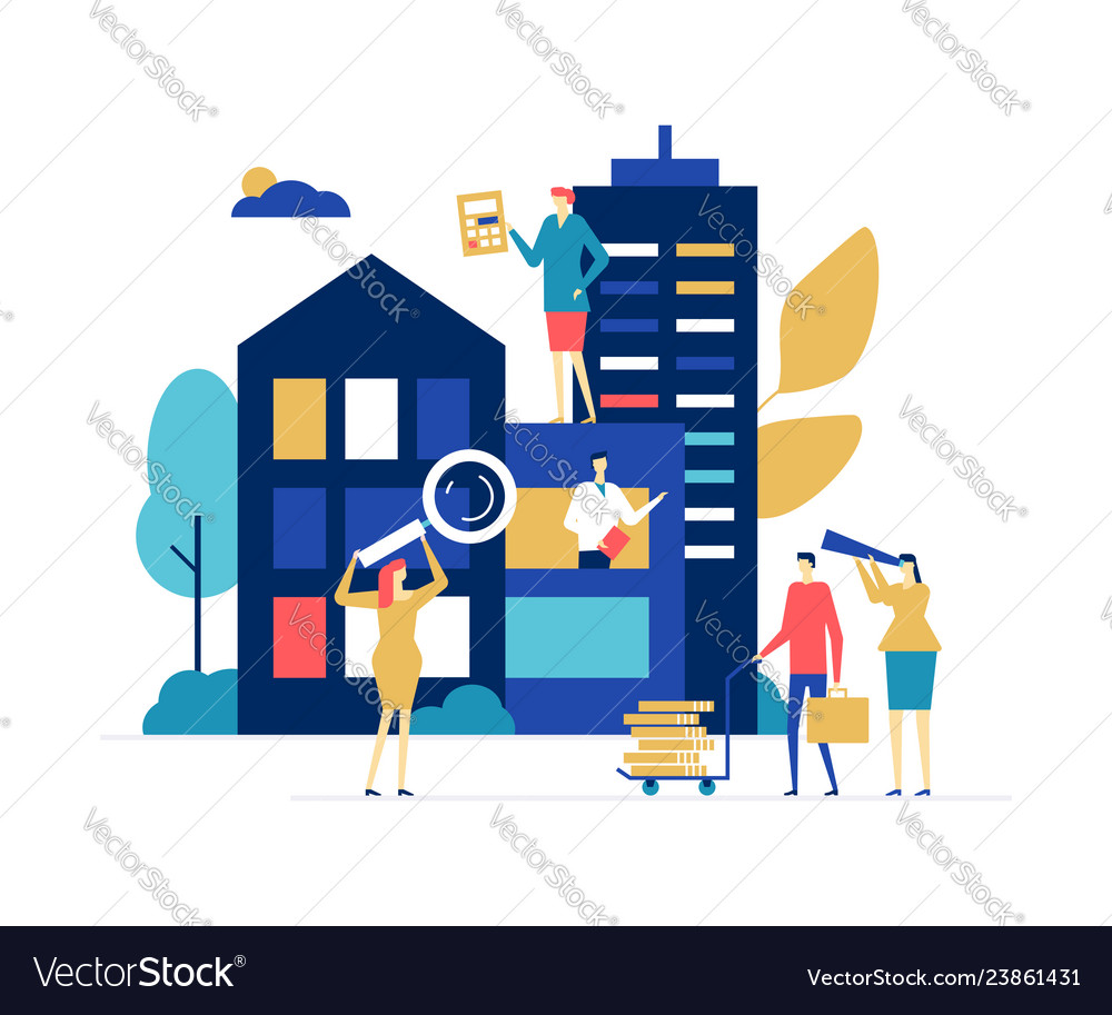 House for sale - colorful flat design style