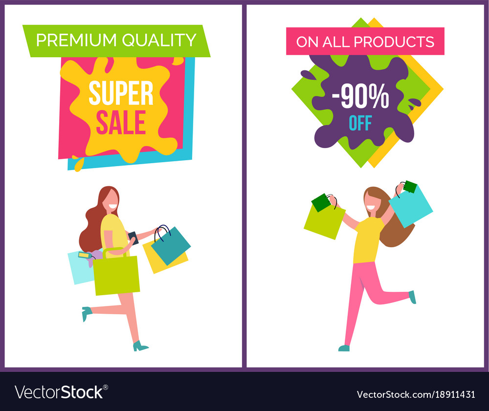 Premium quality and super sale vector image