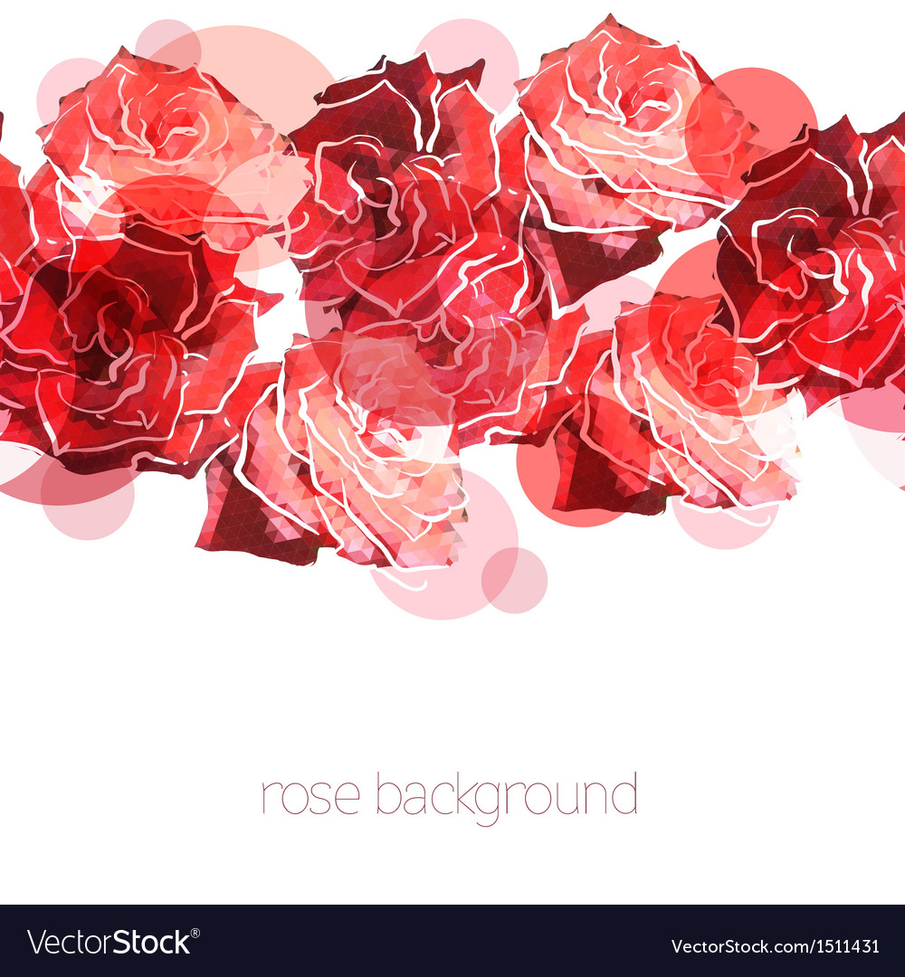 Rose background Floral abstract pattern