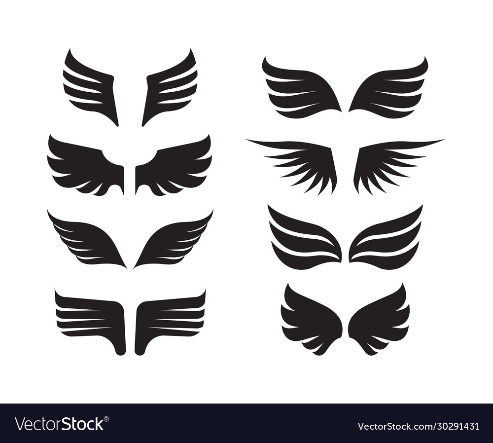 Wings collection aircraft military symbols birds