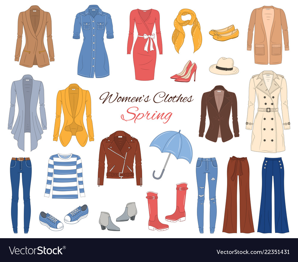 Women clothes collection spring outfit
