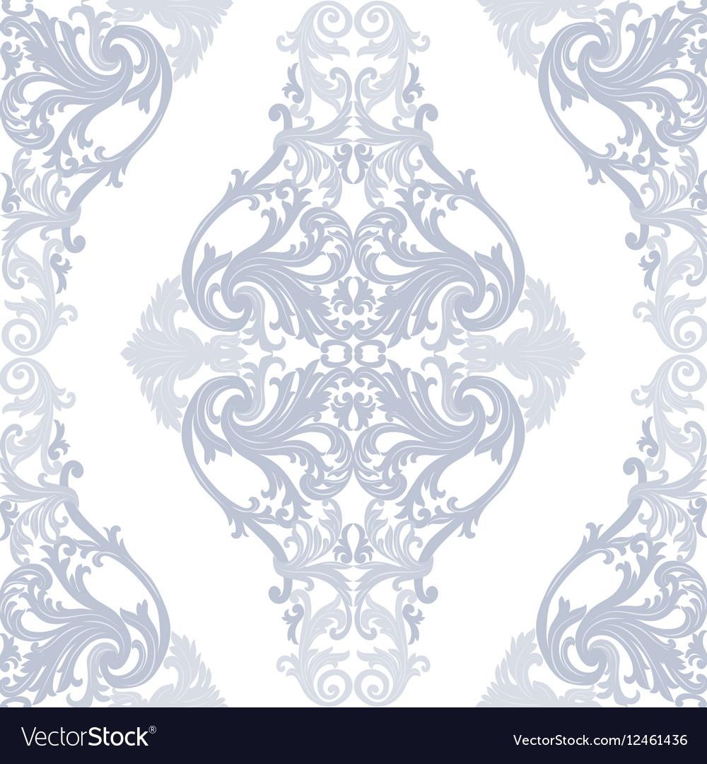 Baroque Vintage floral Damask pattern
