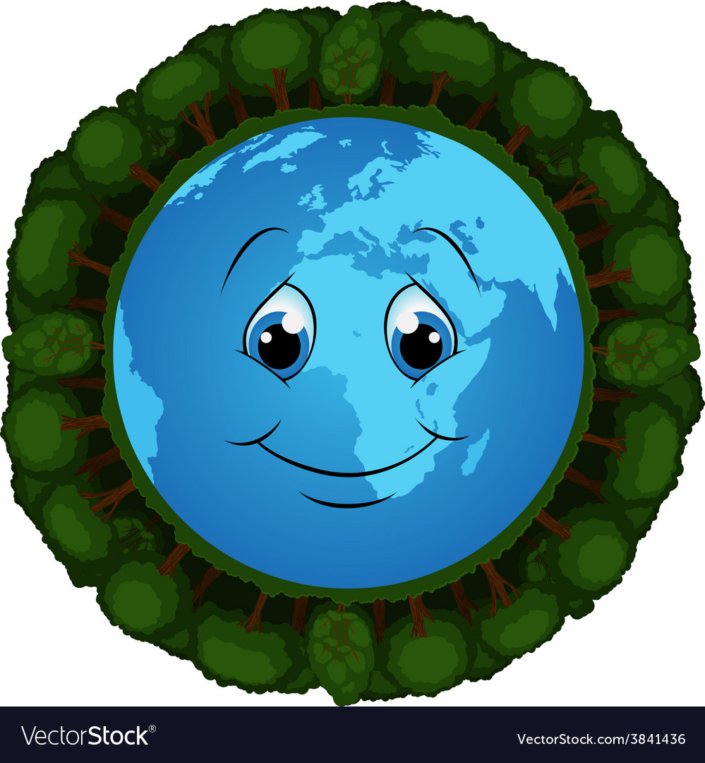 Blooming planet vector image