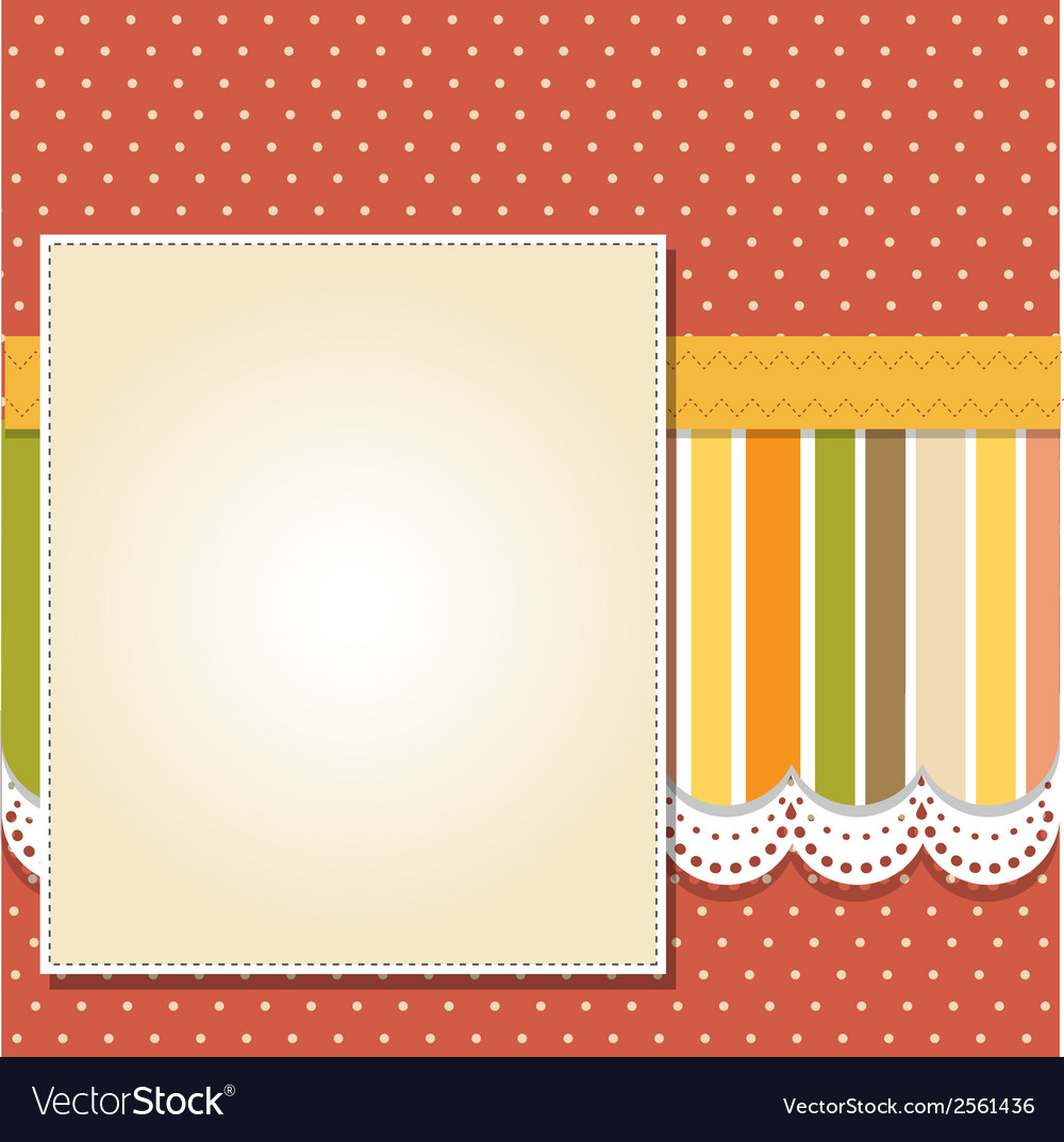 Cool template frame design for greeting card Vector Image