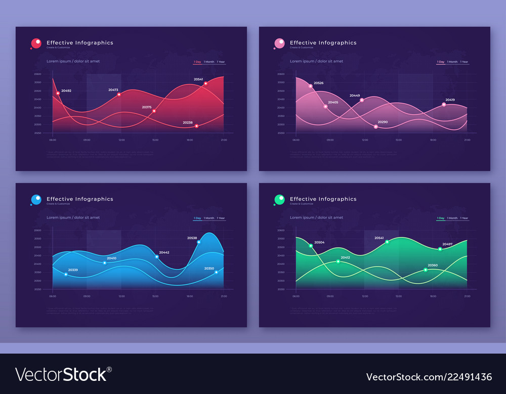 Modern infographic backgrounds