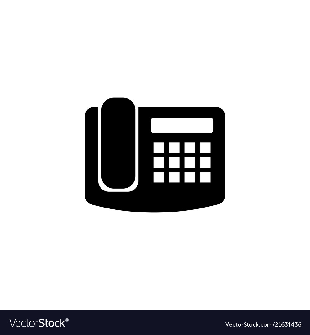 Office fax phone flat icon