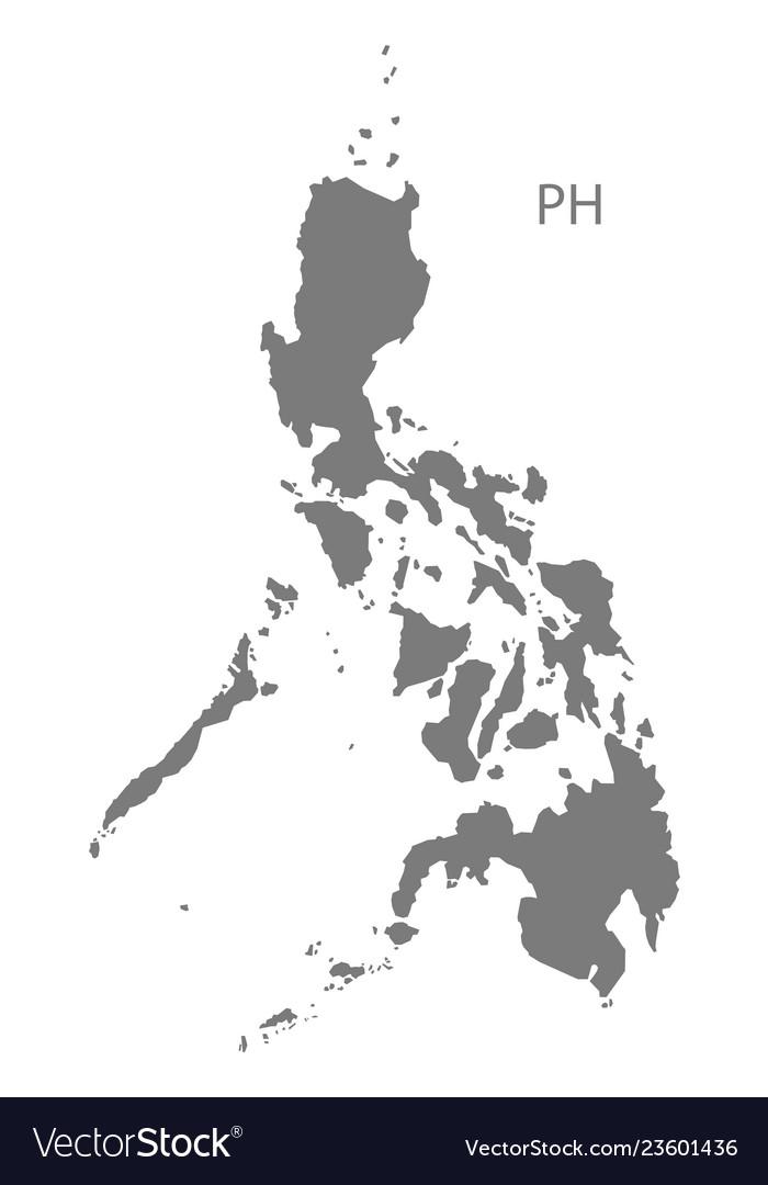 Philippines map grey